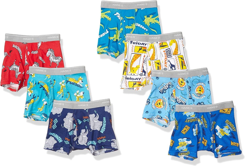 Hanes Boys' Tagless Super Soft Boxer Briefs 7-Pack
