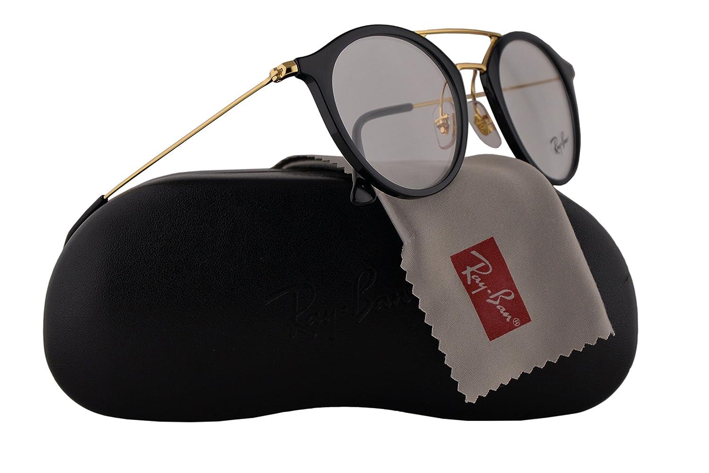 2831ac53f5 Ray Ban RX7097 Eyeglasses 49-21-145 Shiny Black w Demo Clear Lens 2000 RX  7097 RB 7097 RB7097  Amazon.co.uk  Clothing