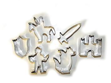 unbrand Caballero sechsteiliges Moldes para Incluye Castillo y dragón, Ideal para niños pequeños y