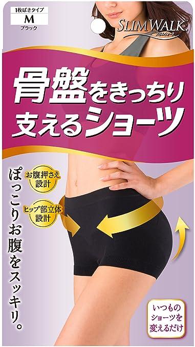 スリムウォーク 骨盤をきっちり支えるショーツ Mサイズ ブラック(SLIM WALK,shorts pelvic,M)