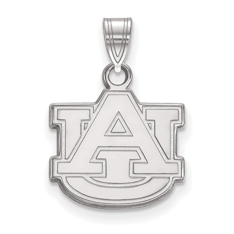 14k White Gold Auburn University Tigers School Letters Logo Pendant 13x14mm