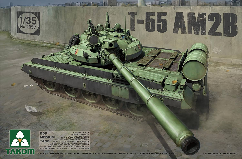 TAKOM 2057 - Modellbausatz DDR Medium Tank T-55 AM2B