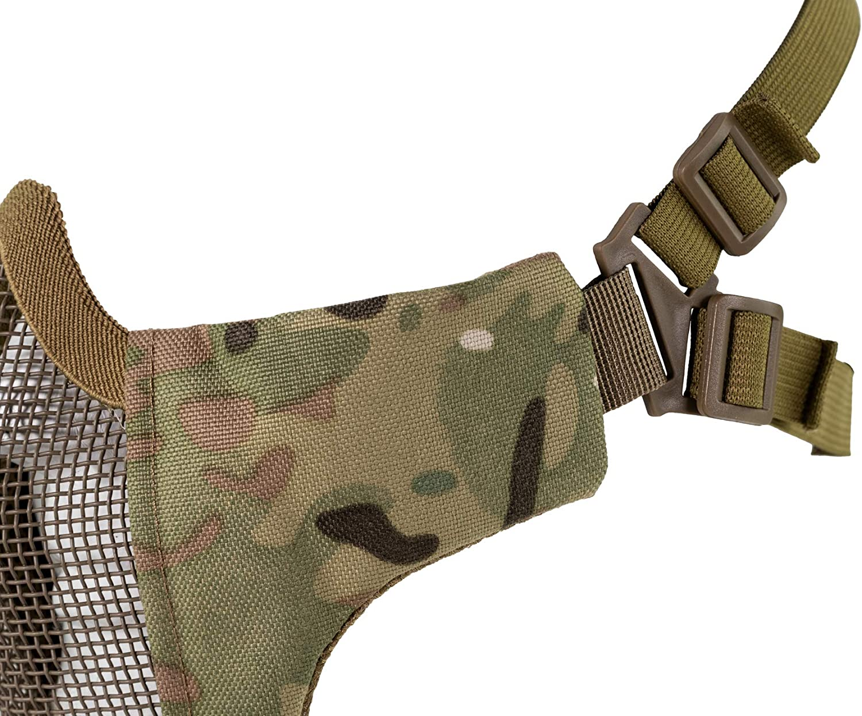 VIPER Gen2 Mesh crossteel Maschera con i lati imbottito Airsoft skermish Coyote