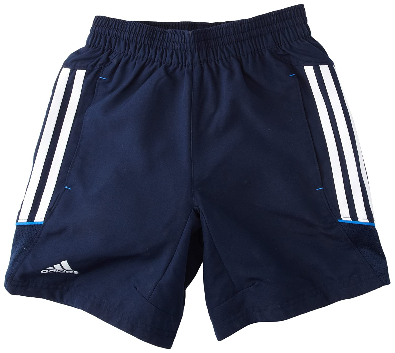 Adidas T12 Woven - Pantalones cortos, color azul, talla 14 añ os (162 cm) talla 14 años (162 cm)