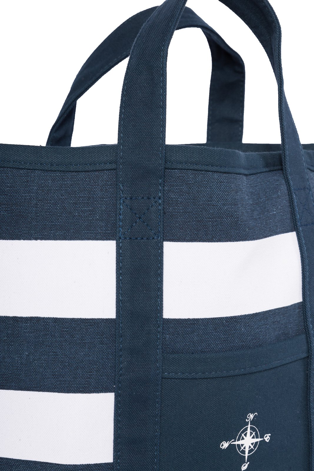 Fishers Finery Canvas Tote with Zipper and Lining with interior Pockets; Multi Sizes and Colors (Navy, S) by Fishers Finery (Image #5)