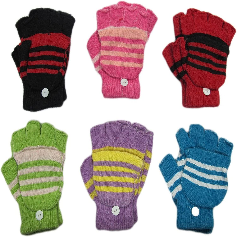 6-pack Magic Stretch Finger Less Gloves