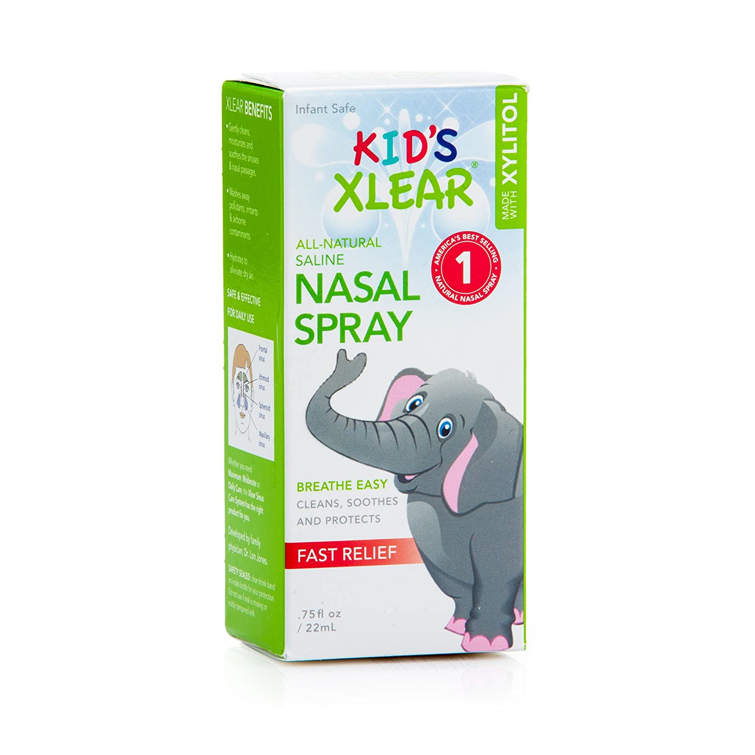 Xlear Kid's Sinus Care Nasal Spray, .75 Fl Oz