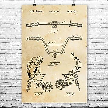 BMX Bike Handlebars Poster Print Bmx Rider Gift Stunt Bike Art Cyclist Gift