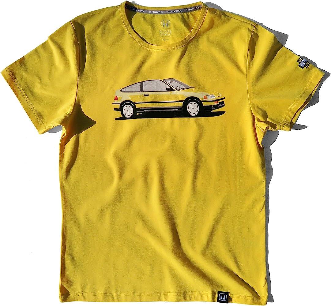 Honda Civic T Shirt Yellow Car