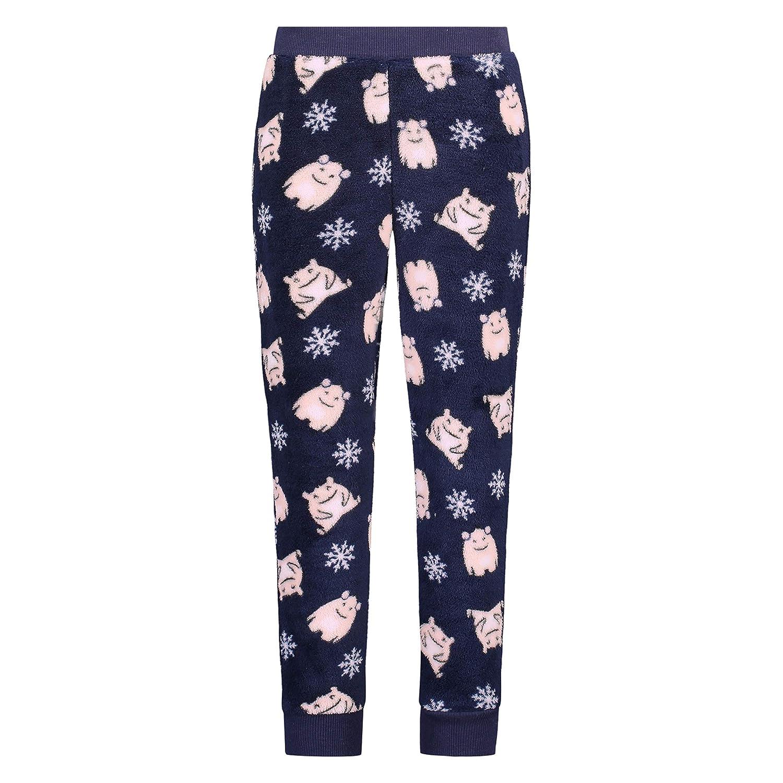 Hunkemöller Damen Pyjamahose Fleece S