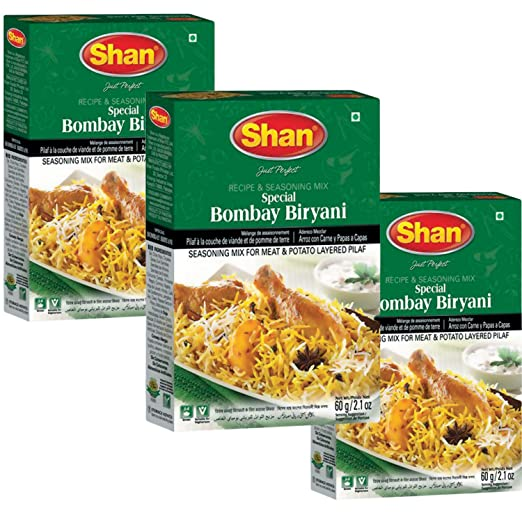 Amazon.com : Shan - Bombay Biryani Mix (3 PACK), 60g x 3 : Grocery & Gourmet Food