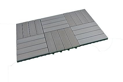 Wpc piastrelle grigio massiccio 30 x 30 cm sorara 6