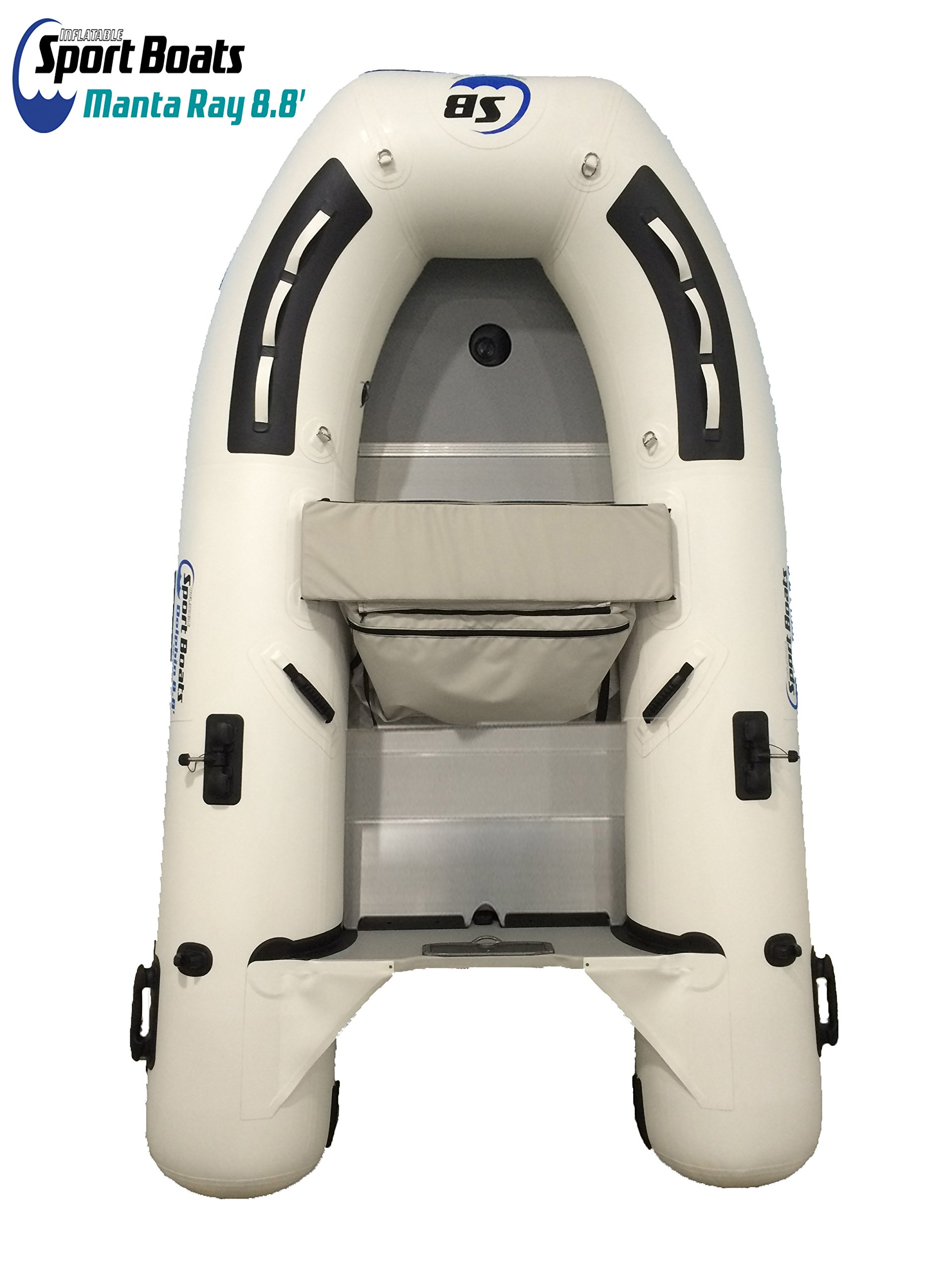 Inflatable Sport Boats Manta Ray 8.8' - Model 270 - Aluminum Floor Dinghy with Seat Bag