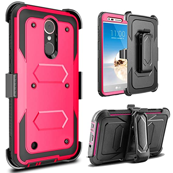 big sale ebc9f a33a3 LG Aristo Case, LG Phoenix 3 Case, LG K8 2017 Case, LG Fortune Case, Jwest  Full-body Rugged Belt Clip Holster Kickstand Case WITHOUT Built-in Screen  ...
