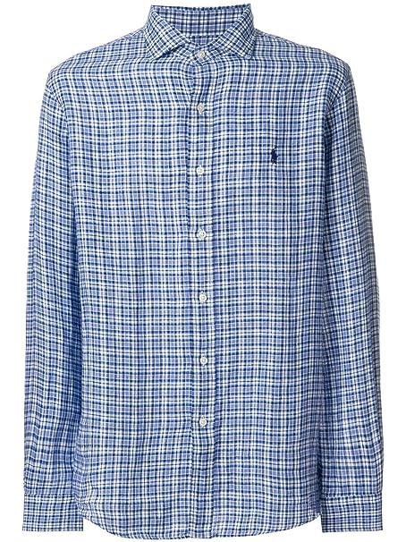 Ralph Lauren Hombre 710691123001 Azul Algodon Camisa
