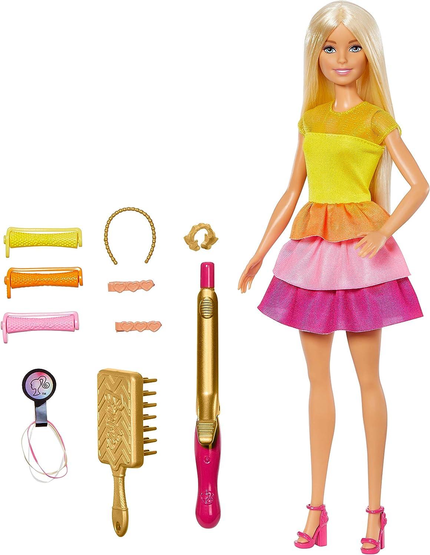 Amazon.es: Barbie Crea sus ondas, Muñeca rubia con accesorios para ...