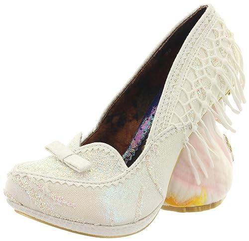 Irregular ChoiceNick of Time - Zapatos de Tacón Mujer, Color Blanco, Talla 42