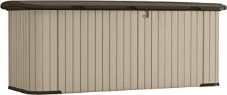 product image for Suncast Multipurpose All-Weather Resin Storage Shed-Hinged Lid and Reinforced Floor Store Outdoor Yard Accessories, Trash Cans, Furniture, Toys, MEDIUM, Taupe