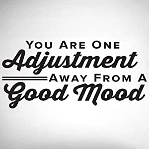 You Are One Adjustment Away From A Good Mood. - 0317 - Home Decor - Wall Decor - Chiropractic - Health - Spine - Wellness