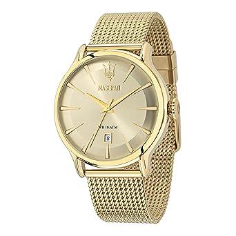 Maserati Reloj Analógico de Cuarzo para Hombre con Correa de Acero Inoxidable - R8853118003: Amazon.es: Relojes