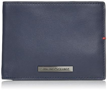 9595cff3bd9641 Amazon.com  Armani Exchange Men s Tri Fold Solid Wallet