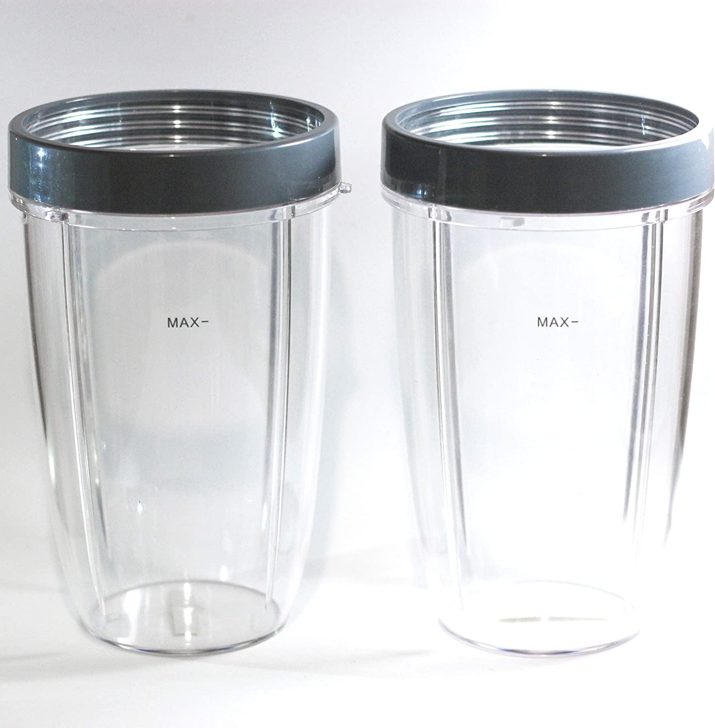 Set of cups 24 oz. with lip ring from 2pcs. Suitable for Nutribullet 600w and 900w. Medium blender cup.