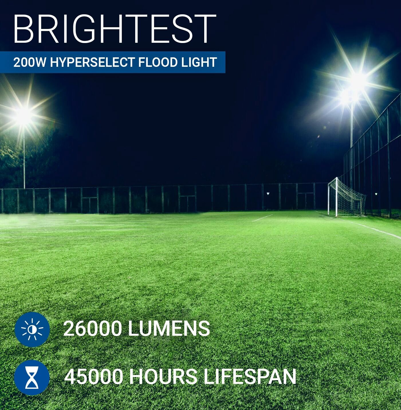 Hyperselect Led Stadium Light 200w Super Bright Outdoor