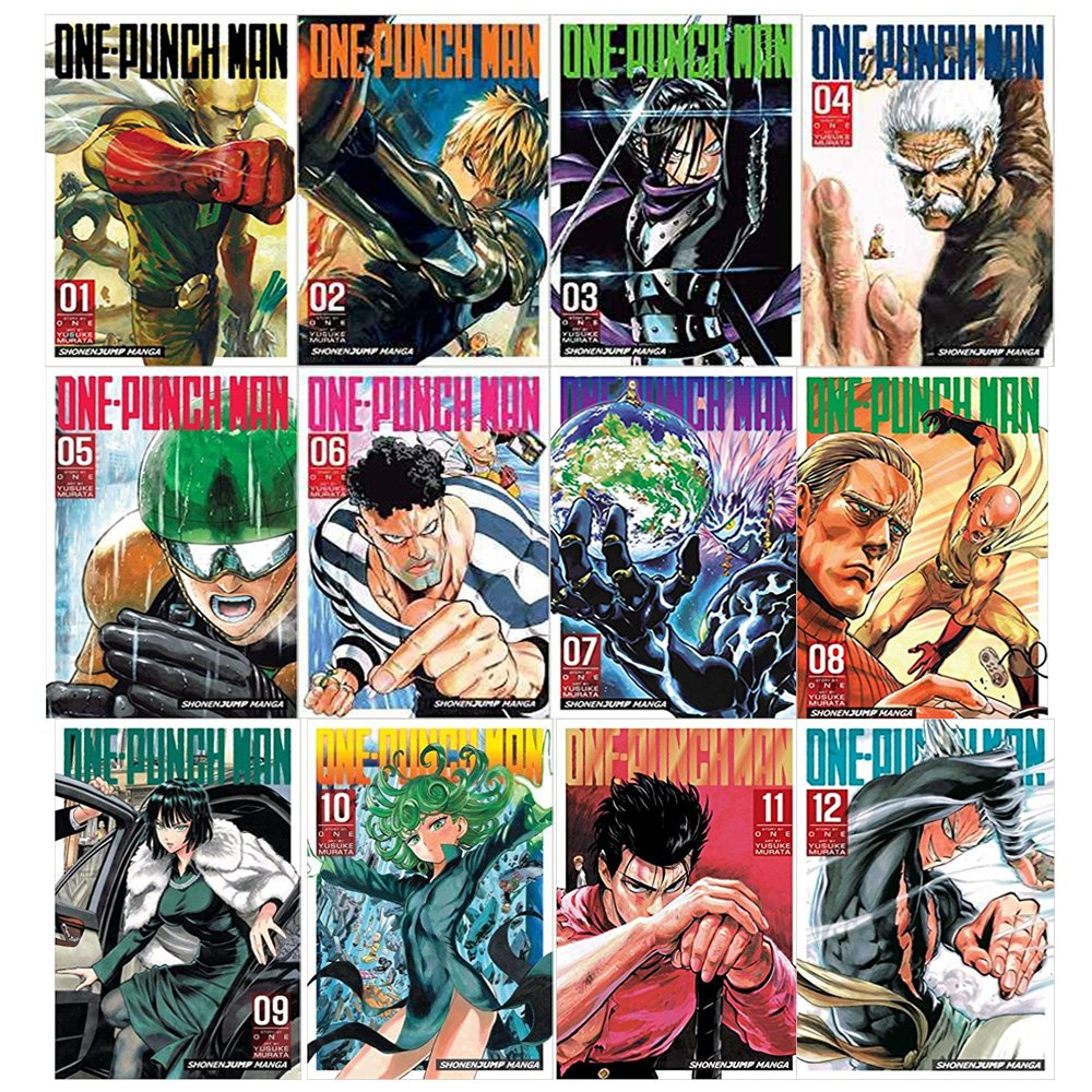 One-Punch Man Volume 1-12 Collection 12 Books Set (Volume 1-12