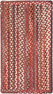 "product image for Capel St. Johnsbury Medium Red 7' 0"" x 9' 0"" Vertical Stripe Rectangle Braided Rug"
