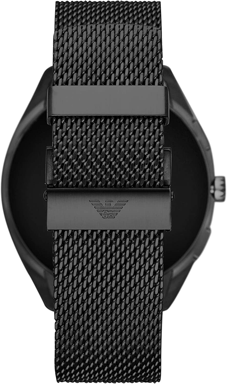 Emporio Armani Mens Smartwatch 2 Touchscreen Stainless Steel Mesh Smartwatch, Black-ART5019