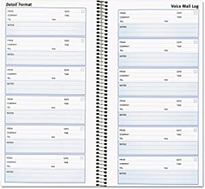 Rediform 51113 Voice Mail Wirebound Log Books 5 5/8 x 10 5/8 600 Sets/Book