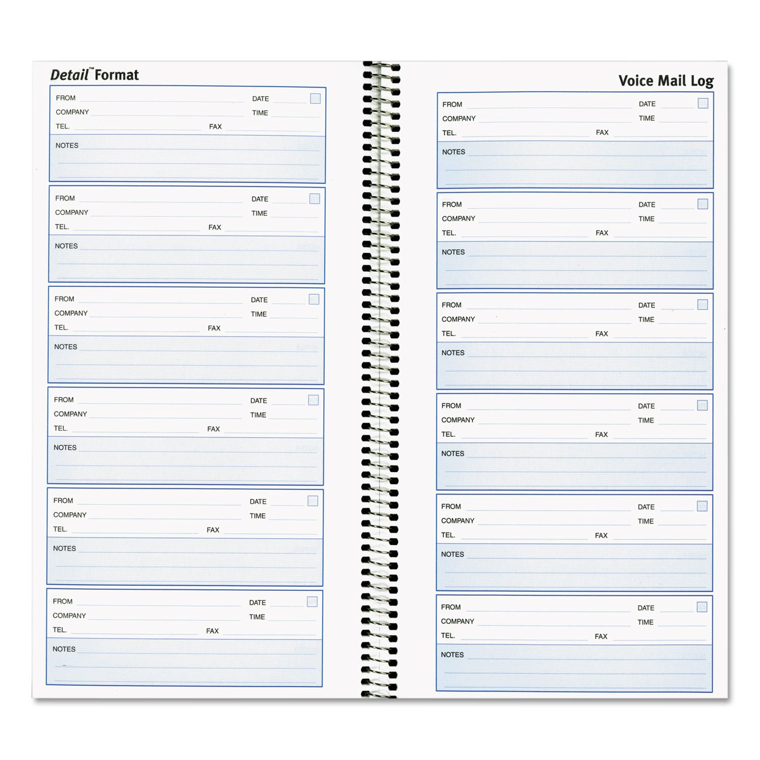 Rediform 51113 Voice Mail Wirebound Log Books 5 5/8 x 10 5/8 600 Sets/Book by Rediform