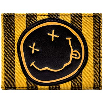Cartera de Nirvana Clásico Cara Sonriente Grupo Logo Naranja: Amazon.es: Equipaje