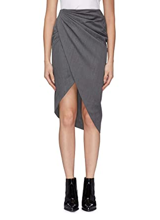51d74bfeef Amazon.com: Helmut Lang Draped Wool Skirt: Clothing