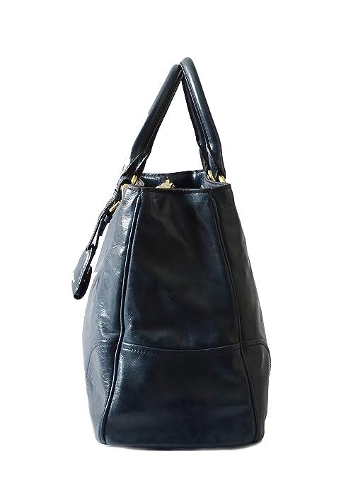 ca2459436 Miu Miu - Bolso de asas de piel de becerro para mujer Azul azul L:34cm B:16cm  H:25cm: Amazon.es: Zapatos y complementos