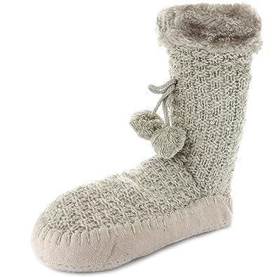 outlet temperament shoes good texture Kiabi Chaussons Chaussettes à Sequins Gris 40/42: Amazon.fr ...