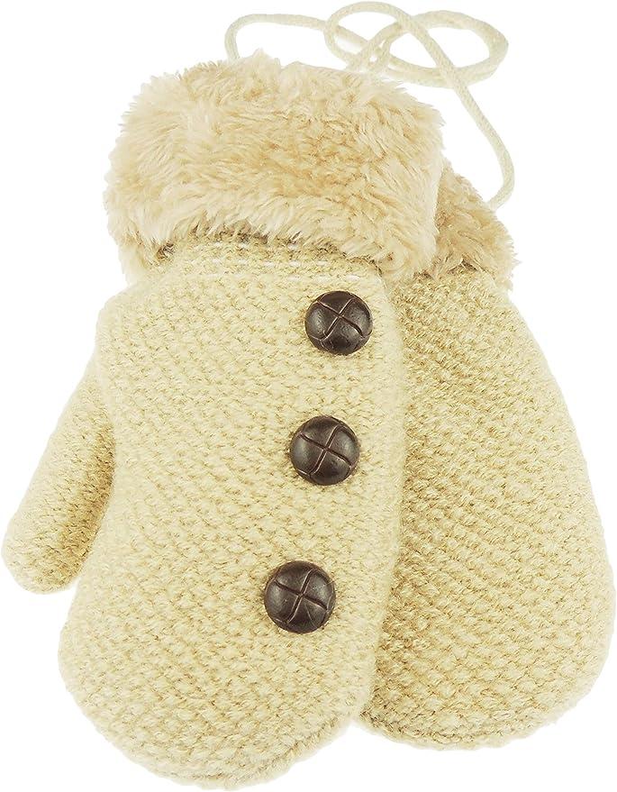 corail Glamour Girlz Moufles dhiver pour b/éb/é fille et gar/çon avec doublure en polaire chaude 6-15 mois