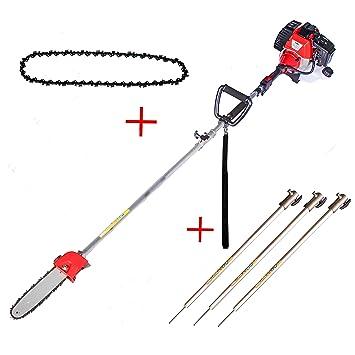 Podadora de Altura KUDA 52 cc 2cv reales 25 cm de espada motor de gasolina + 3 barras y 1 cadena extra: Amazon.es: Bricolaje y herramientas