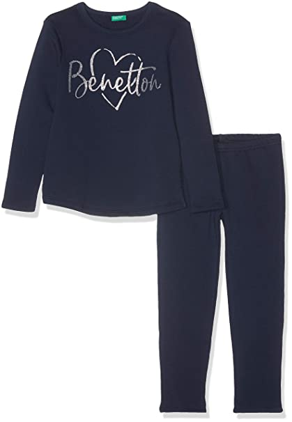 United Colors of Benetton Set Sweater+Trousers, Sudadera para Niñas: Amazon.es: Ropa y accesorios