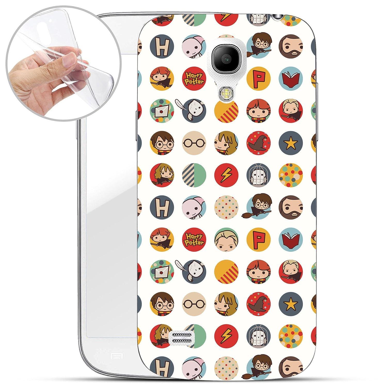 Finoo Samsung Galaxy S4 Mini Weiche flexible lizensierte Silikon-Handy-Hülle | Transparente TPU Cover Schale mit Harry Potter Motiv | Tasche Case mit Ultra Slim Rundum-schutz | Harry Potter Portrait