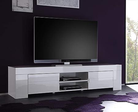 LC spa TV Armario EOS Grande con 2 Puertas, 190 x 45 x 50 cm, Color Blanco Brillante: Amazon.es: Hogar