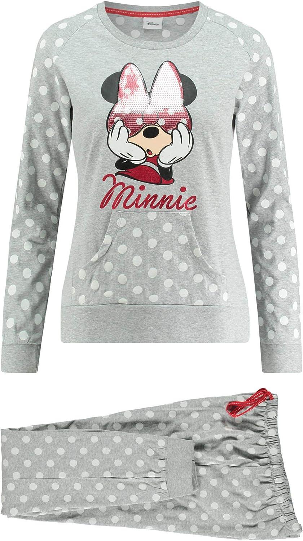 Disney Pijama Manga Larga Minnie Spot para Mujer