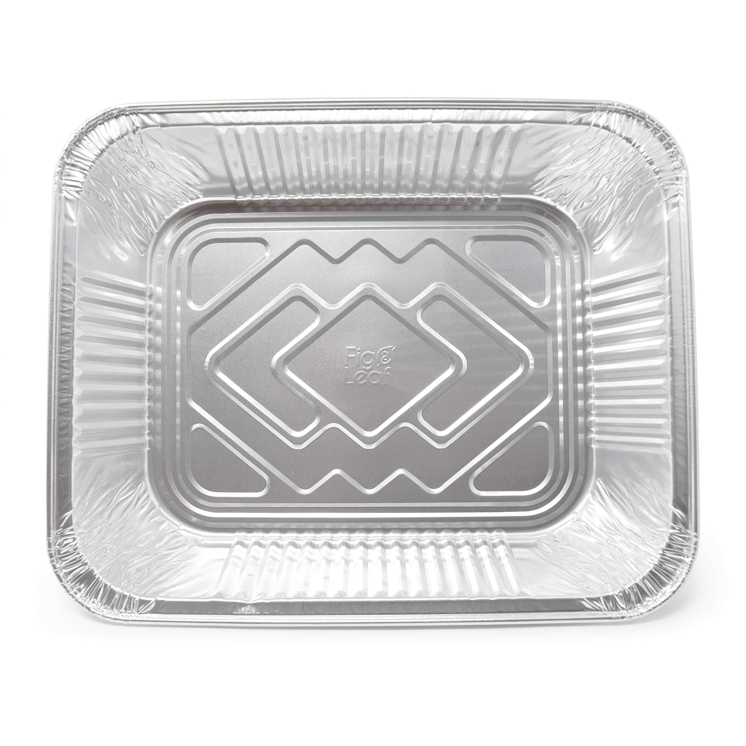 Fig and Leaf (40 Pack) Premium Chafing Pans 9'' x 13'' – Half Size Deep Pan Steam Table Pan l Top Baker's Choice Aluminum Foil for Roasting Potluck Reheating Catering Party BBQ Broiling Baking by Fig and Leaf (Image #4)