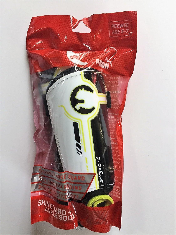Puma Peewee足首Shin Guard + Ankle Socks with Thick 5 mm EVA Padding B079YXYGHT