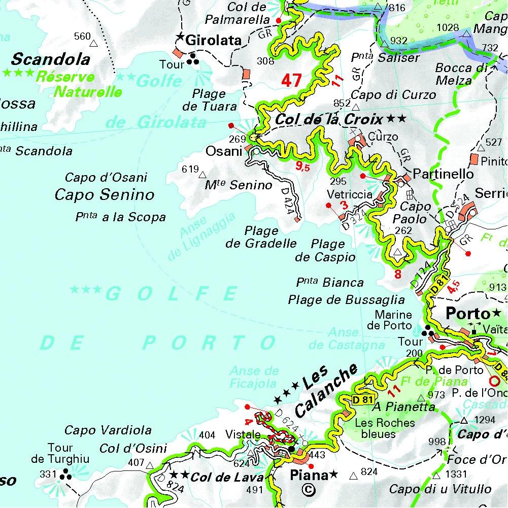 Corsica Michelin Local Map 345 Michelin Local Maps Amazoncouk