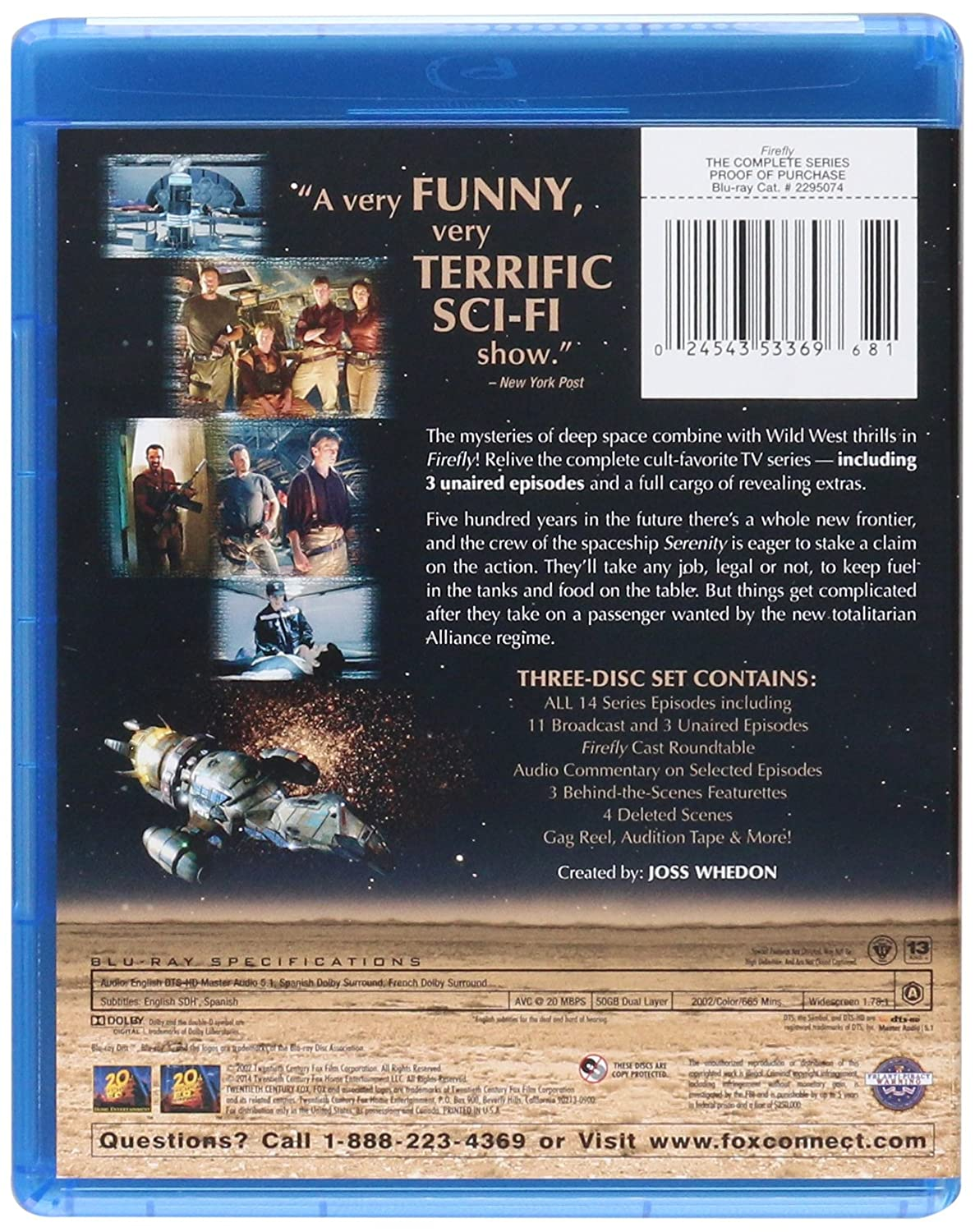 Amazon com: Firefly: The Complete Series [Blu-ray]: Nathan