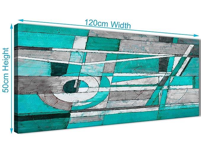 Camera Da Letto Parete Turchese : Turchese grigio camera da letto pittura artistica da parete