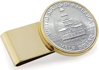 product image for JFK Bicentennial Half Dollar Stainless Steel Coin Money Clip