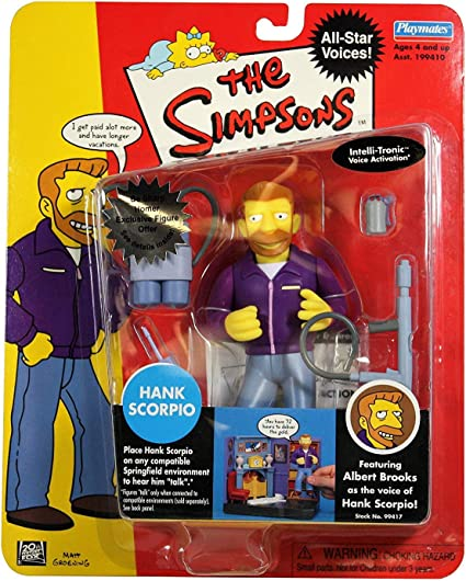 The Simpsons Playmates Celebrity All Star Voices Action Figure Hank Scorpio
