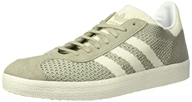 newest d4685 80995 adidas Originals Men s Gazelle PK Sneaker, Sesame White Trace Green, 4  Medium